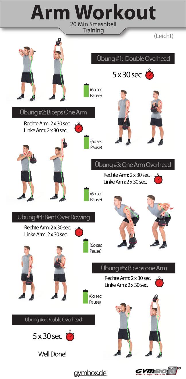 Leichtes Kettlebell Workout für die Arme