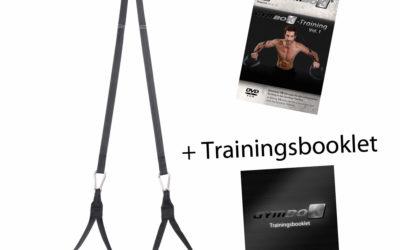 Sling Trainer Gymbox Mit Schlingentrainer DVD, Festinstallation an der Wand, Übungen für Zu Hause Suspension Trainer