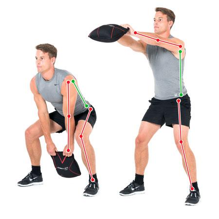 Sand-Pad Bein- und Rückentraining Swing