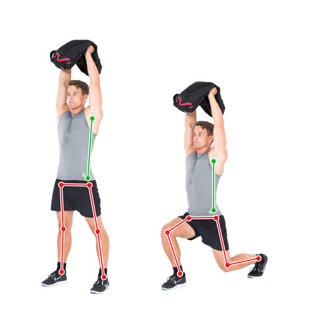 Lunge Overhead