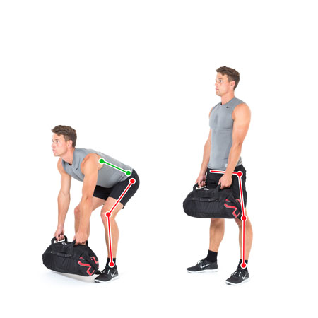Sandbag exercise Deadlift