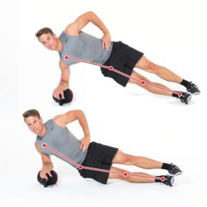 Kettlebellübung Sidestaby Dynamic