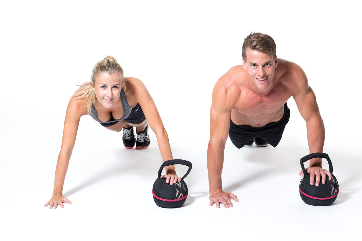 Push Up with Smashbell/Kettlebell
