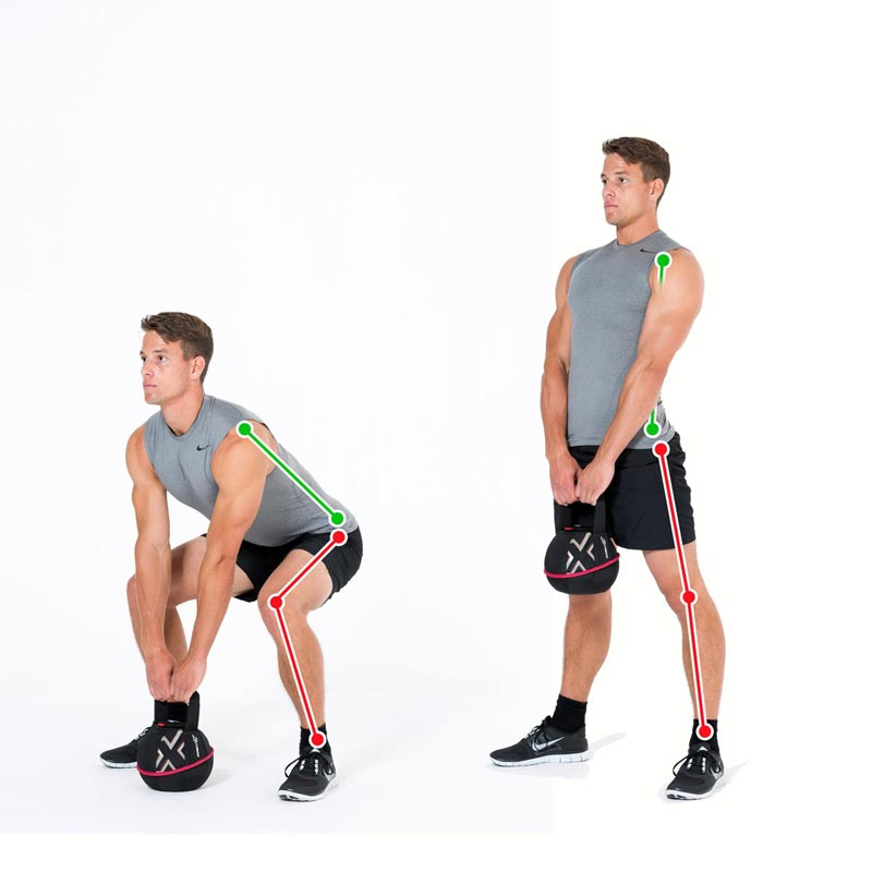 Kettlebell Exercise Deadlift with the Smashbell