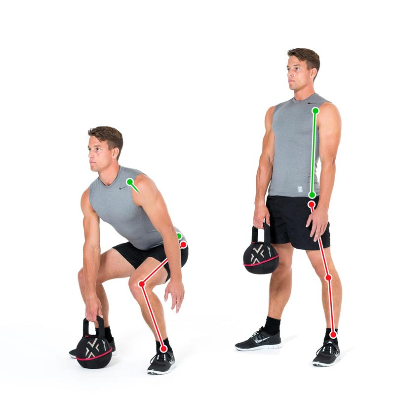 Kettlebell Exercise Deadlift With One Arm