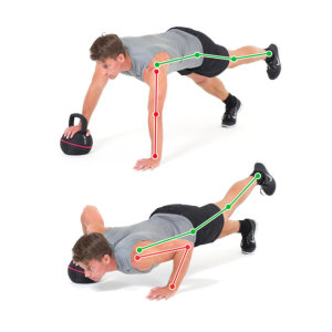 Push-up One Arm Leg