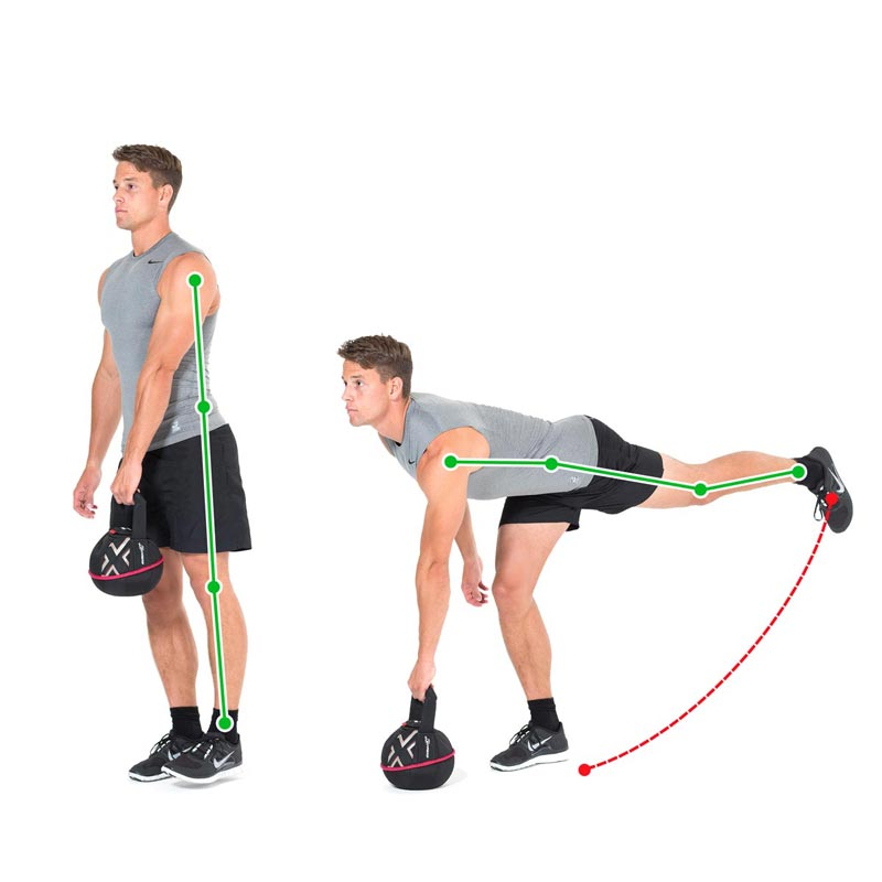 Kettlebell Exercise Balance Bent Over