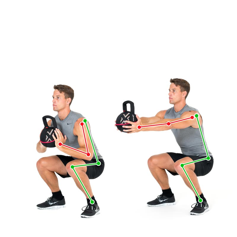Squat Kettlebell Push
