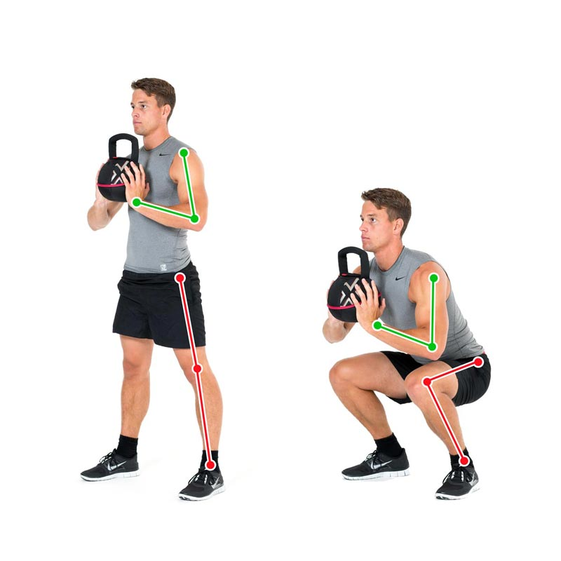 Kettlebell Exercise Squats for the Legs with the Smashbell