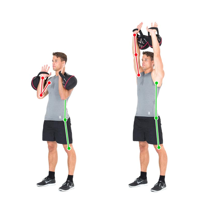Kettlebell Exercise Double Lift for Shoulders, Chest, and Arms