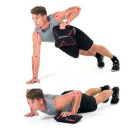 Push-up Wide Lift