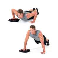 Push-up wide